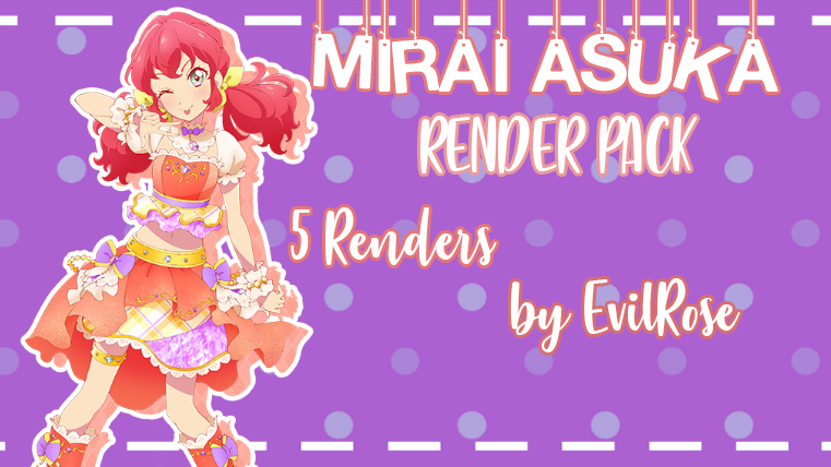 Mirai Asuka Render pack by Lily-Fansub