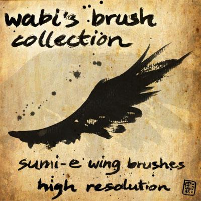 wabibrushset_sumi-e wing by wabi-sabi-ways