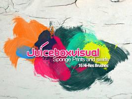 Sponge Prints and swirls Set by LDN755
