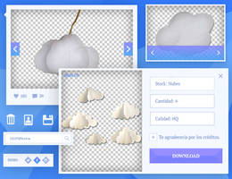 {i} Stock png's 001 - Nubes by VicStephan16