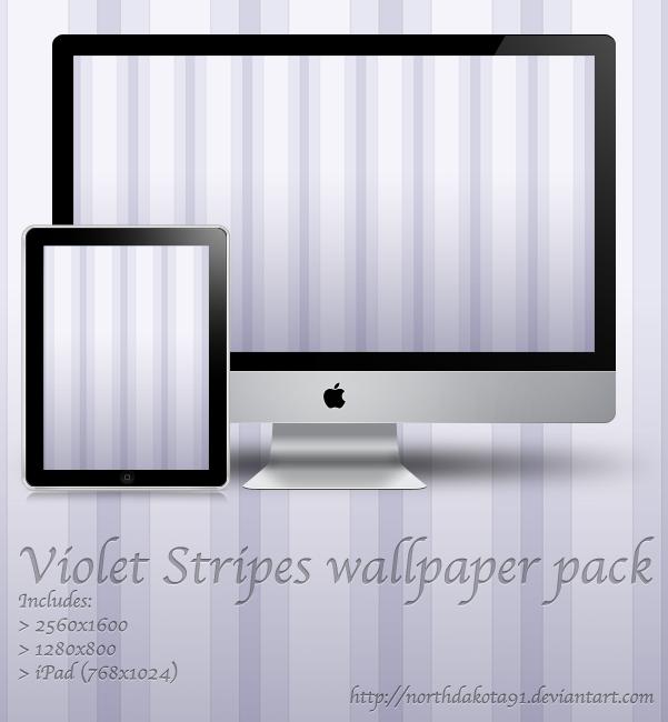 Violet Stripes wallpaper