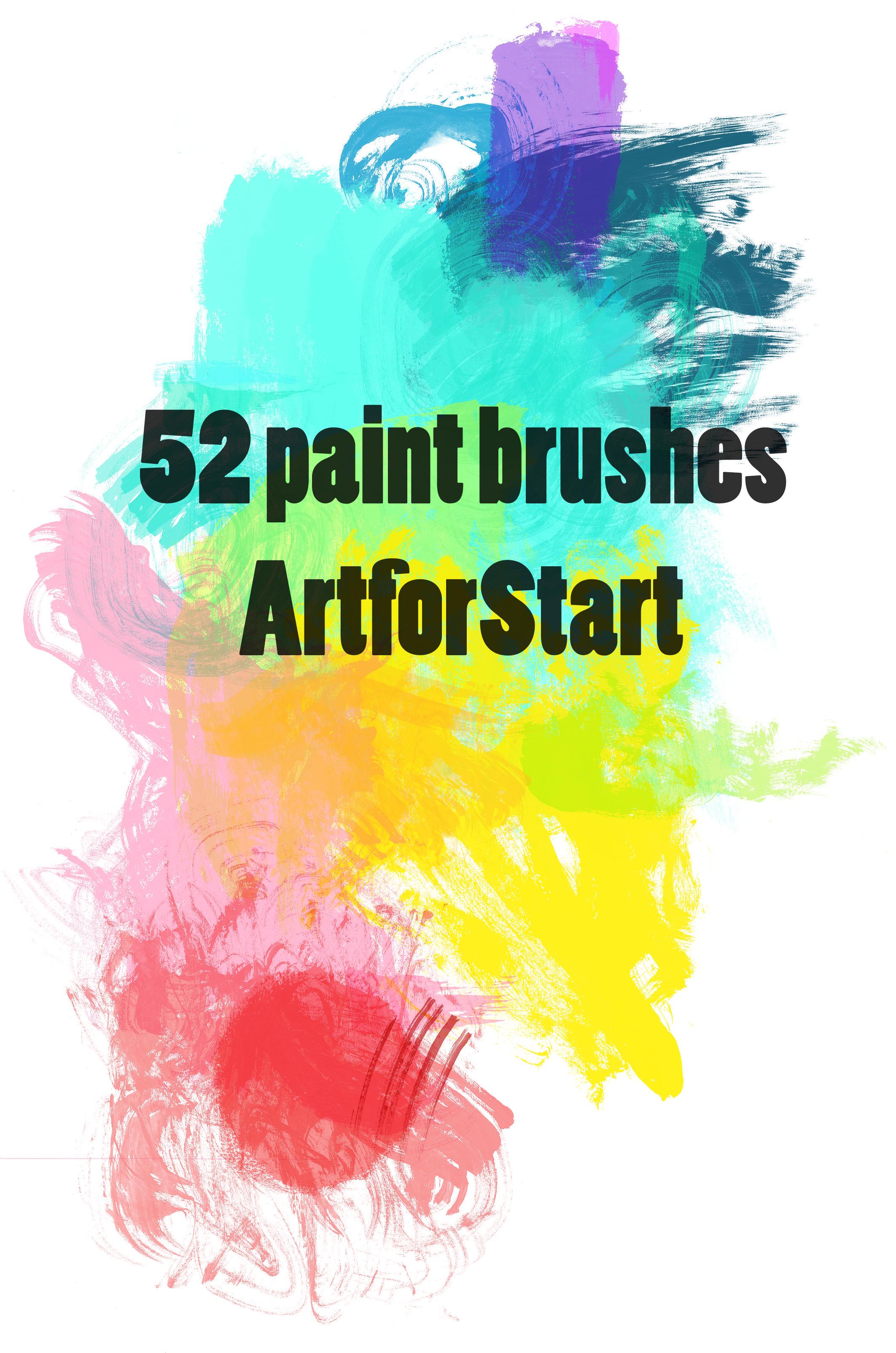 52 paintbrushes