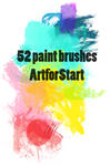 52 paintbrushes