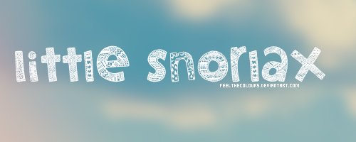 Little Snorlax - Font by feelthecolours