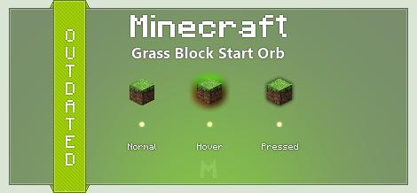 Minecraft Grass Block Start Orb