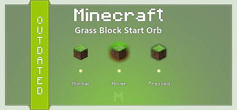 Minecraft Grass Block Start Orb by Mulsivaas