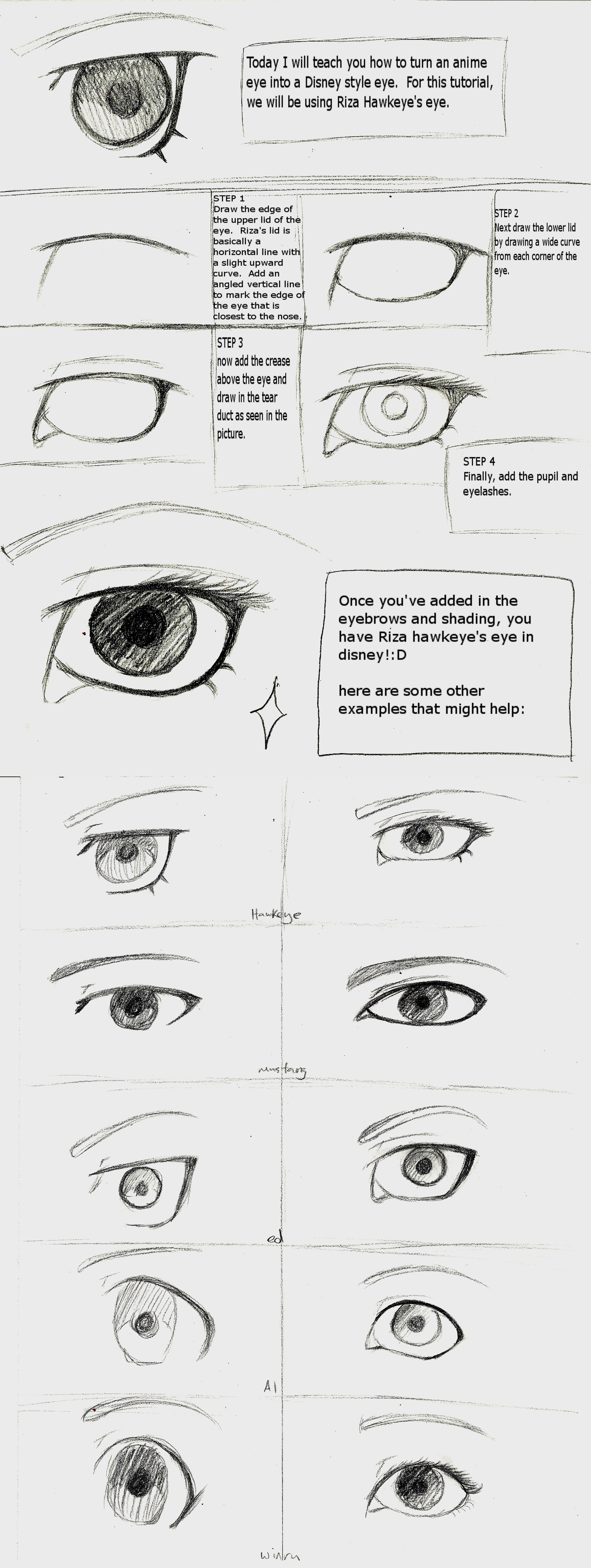 Disney Eye Tutorial by horsegrl1234 on DeviantArt