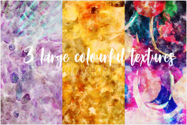 3 Colourful Textures by AngieFaith