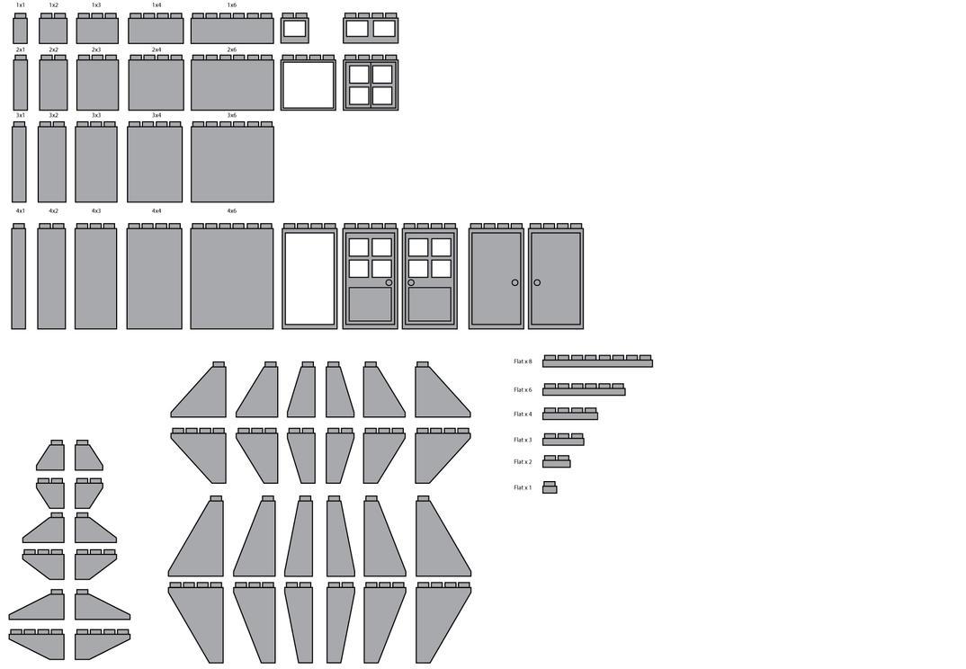 Free 2D Lego Bricks (colorable) Vector File by Nimajination-Studios