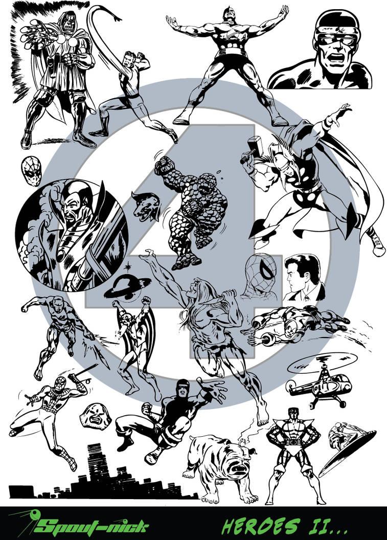 Super Heroes II vectors by Spout-Nick