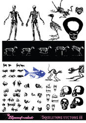 Skeletons vectors (II) by Spout-Nick