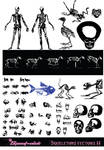 Skeletons vectors (II) by Spout-Nick