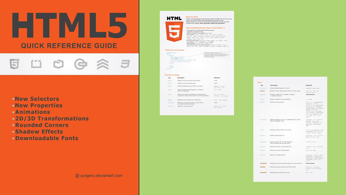 html5 quick reference guide by purgeru on deviantart rh deviantart com quick reference guide html5 html reference guide download