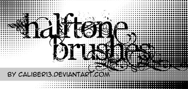 Halftone Brush Set by CaliberArts