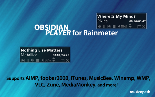Obsidian Player for Rainmeter by musicopath