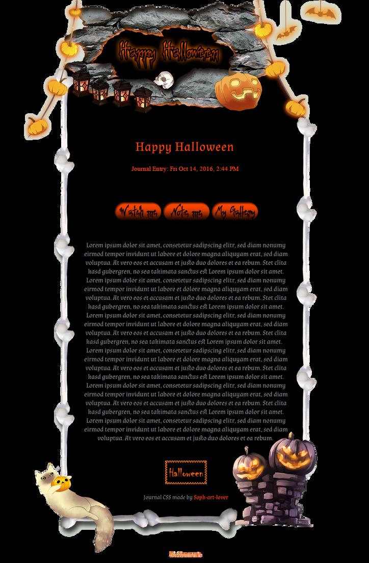 Halloween Light Journal Skin by Soph-art-lover