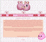 Pink Bunny - Journal Skin by Soph-art-lover
