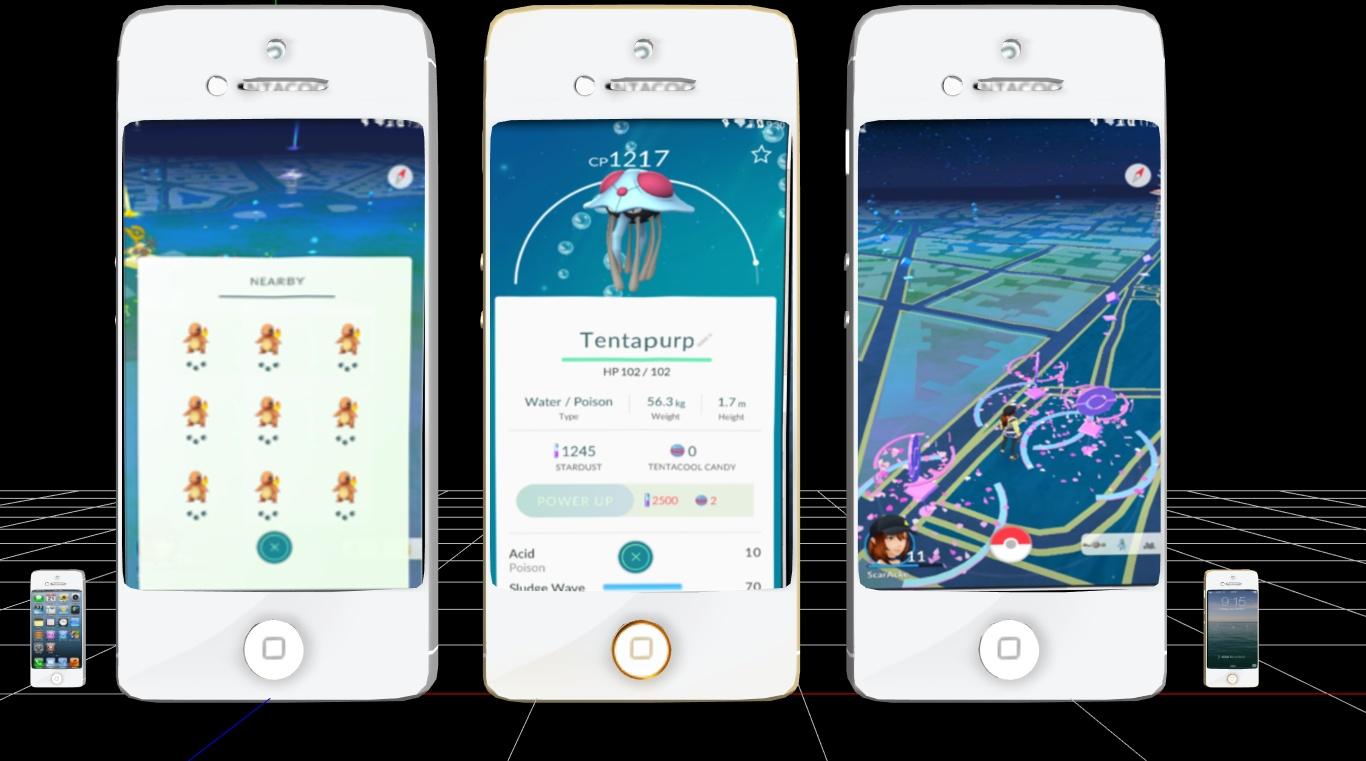MMD iPhones W/PokemonGo Screens DL (READ BELOW!!!)