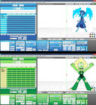 MMD Lapis and Peridot UI color DL