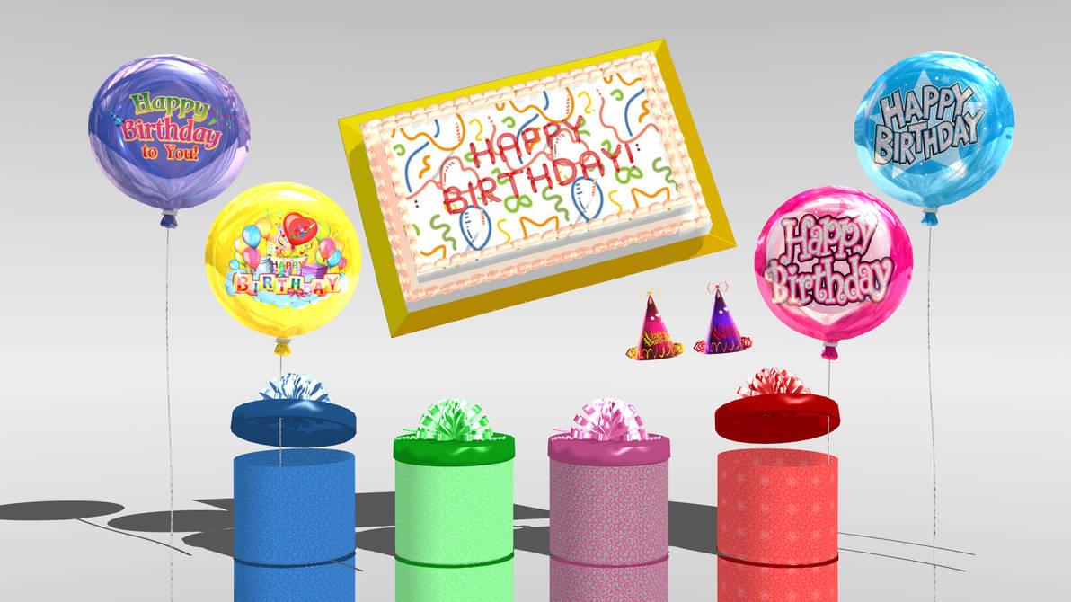 [MMD] Birthday Gift - Birthday Pack DL! by ScarlettAckerman