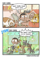 Cat cafe by Cheekylicious