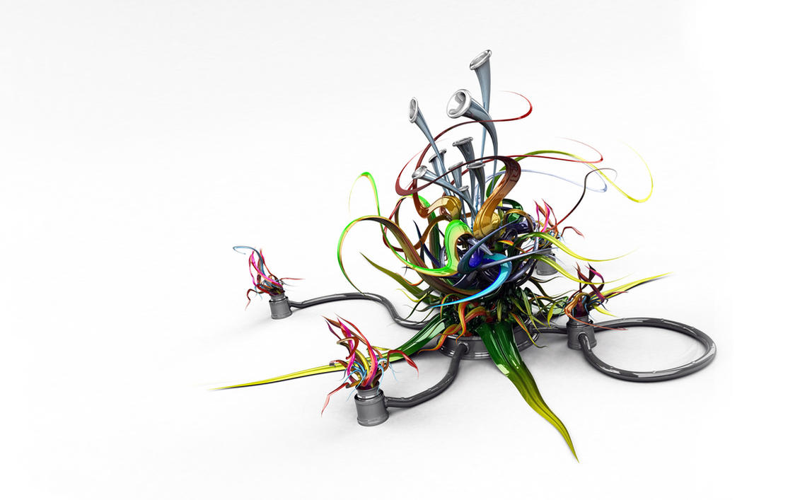 3D-графика - Звук вокруг - обои для рабочего стола - Wallpaper Finder.