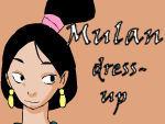 Mulan Dress up