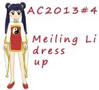 AC2013#4 Meiling Li dress up by Hapuriainen