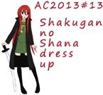 AC2013#13 Shakugan no Shana dress up by Hapuriainen