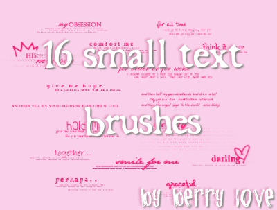 15 PSP brushes: small text by PromiseBerry