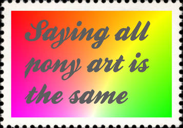 pony art stamp by dalegribble3000
