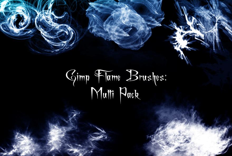 Gimp Flame Brush Pack
