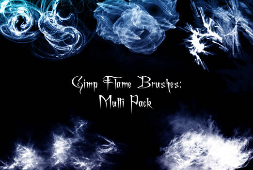 Gimp Flame Brush Pack