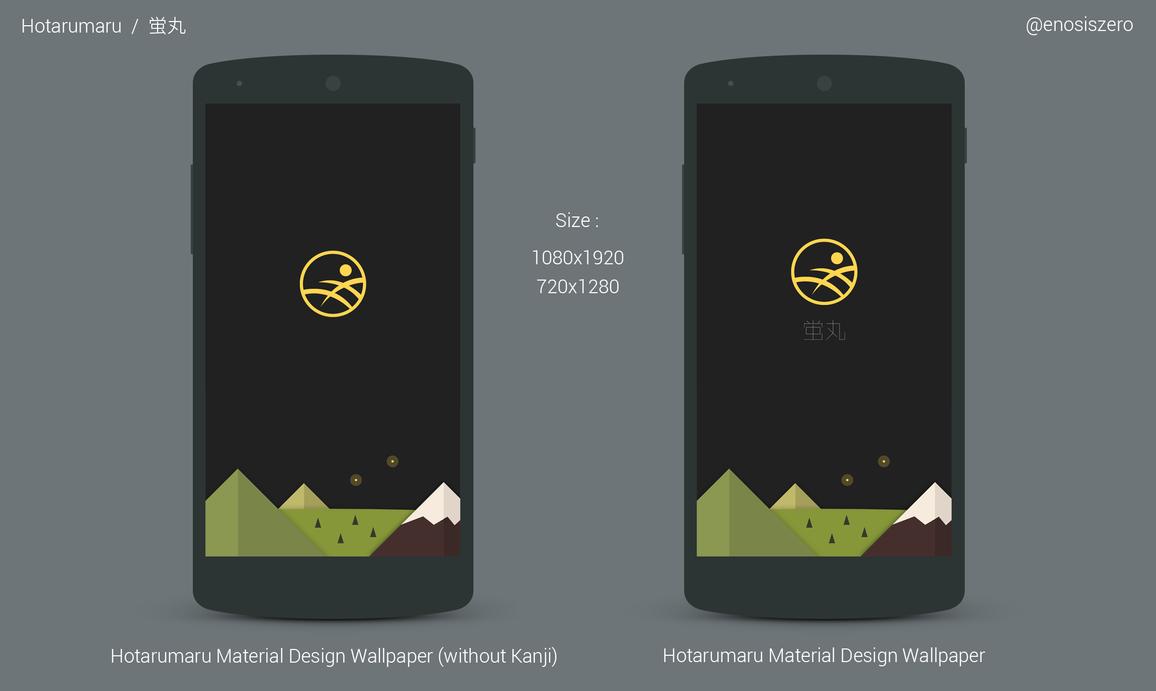 Hotarumaru google material design mobile wallpaper by - Material design mobile wallpaper ...