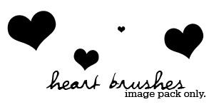 heart brushes IMAGE PACK