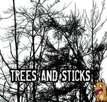 PS Brushes: Trees and Sticks by derangedhyena