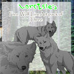 Free Wolf LineArt Pack of three
