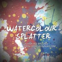 Watercolour Splatter by DesignbyNinjas