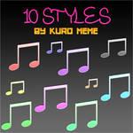 10 Styles by Kuro Meme