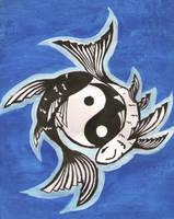 Old YIN-YANG symbol of TAO (KOI carp)
