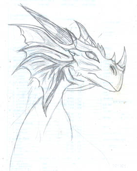 Dragon sketch (2008)