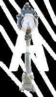 Lamp Post Street Clock Stock - PSD File