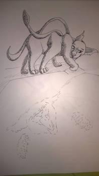 Inktober - Day 30 - Found - Displacer beast