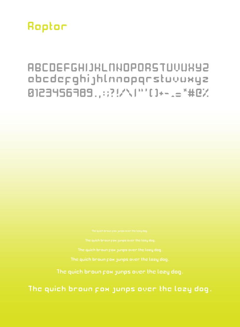 Raptor Sans font by rotweiler83