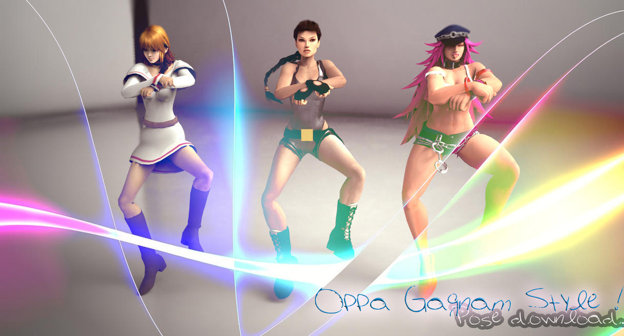 XNALara Pose DL - Oppa Gagnam Style Dance by Kukla-Factory