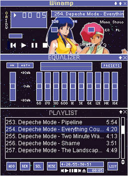 Dirty Pair Winamp Skin