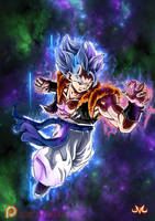Gogeta Ultra Instinct Aura Animated by Maniaxoi