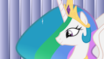 Celestia's Creepy Smile in HD by MidwestBrony