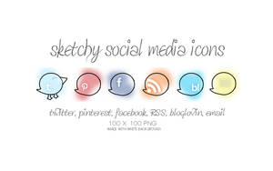 sketchy social media icons by slanderxoxo