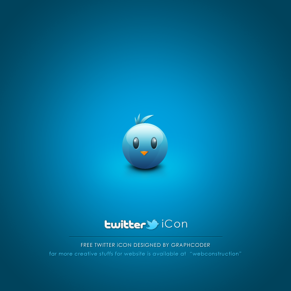 Free Cute Twitter Bird by graphcoder